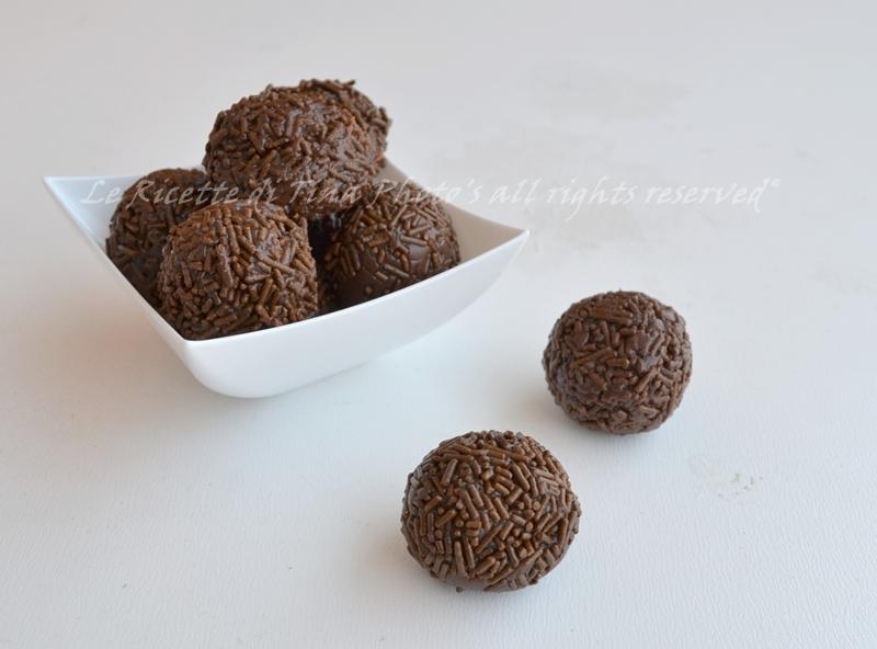 tartufi senza cottura,brigadeiro,praline al cacao,