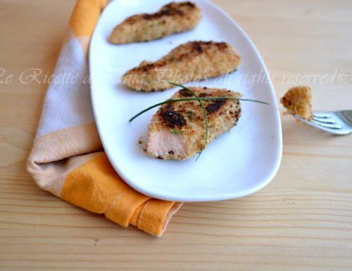 Bocconcini di salmone in padella