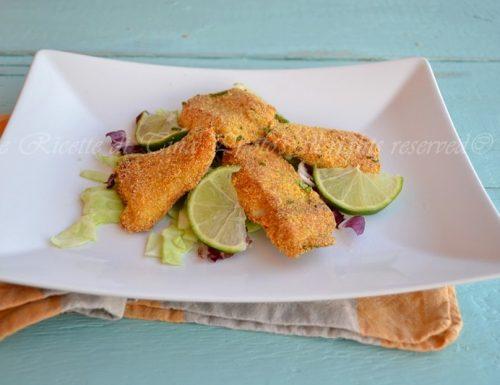 Pesce persico impanato