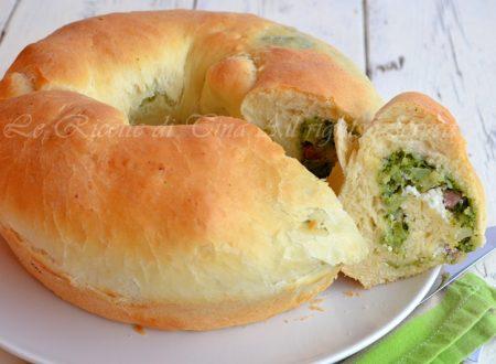 Brioche salata broccoli e salsiccia
