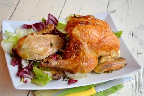 pollo arrosto,pollo al forno,pollo con limone,le ricette di tina,