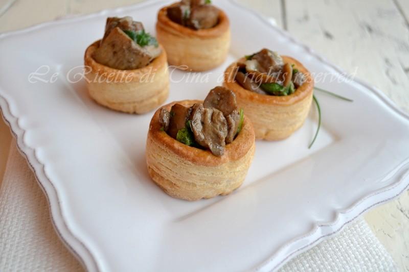 antipasti,le ricette di tina,vol au vent,funghi,antipasti vegetariani,