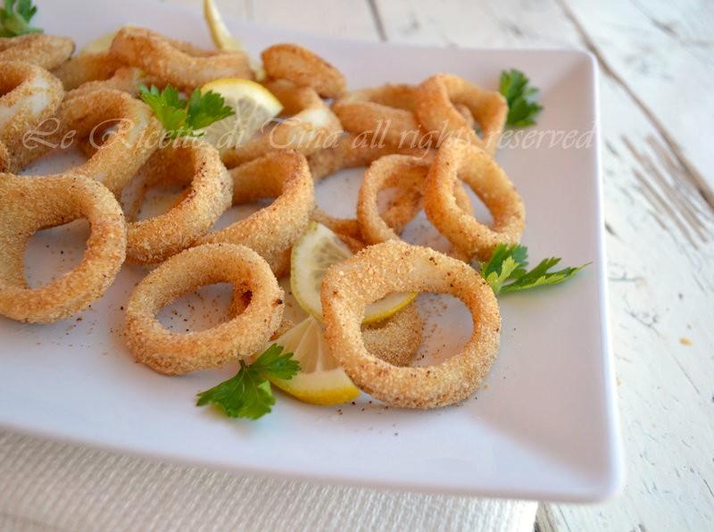 calamari al forno,le ricette di tina,totani al forno,