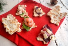 Crescentine salate antipasto natalizio