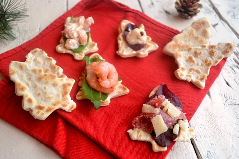 Crescentine salate,alberi salati,antipasti natalizi,Le ricette di tina,