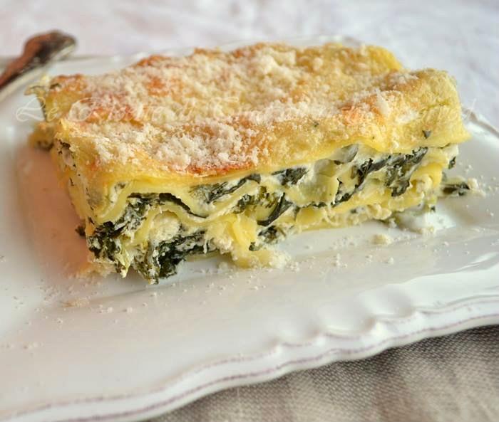 lasagne,ricotta e spinaci,spinaci e mozzarella,le ricette di tina,