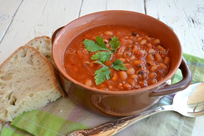 zuppa,fagioli occhio nero,le ricette di tina,zuppa di fagioli,