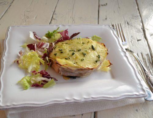 Salmone con patate al forno