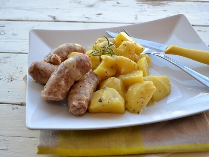 salsiccia con patate ricetta bimby,ricetta bimby,le ricette di tina,salsiccia e patate,