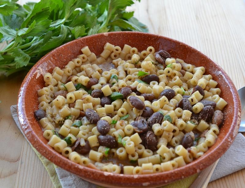 pasta e fagioli,pasta napoletana,primi veloci,primi semplici,primi piatti,le ricette di tina,