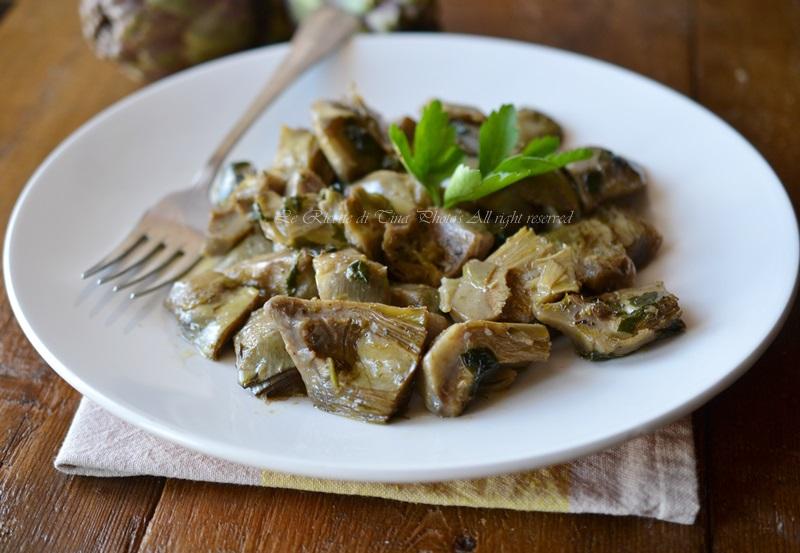 carciofi,carciofi in padella,ricette semplici,ricette con carciofi,le ricette di tina,