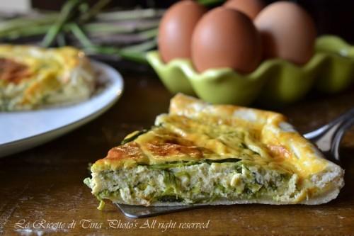 torta salata con asparagi e uova,torta salata,asparagi,asparagi e uova,asparagi al forno,le ricette di tina,