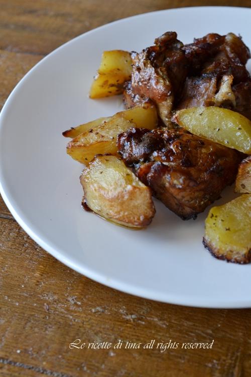 agnello,agnello al forno,agnello con patate,le ricette di tina