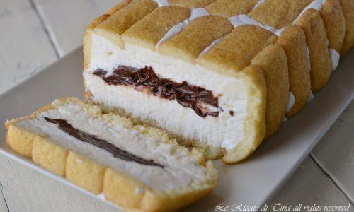 Torta pavesini nutella e mascarpone