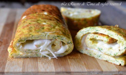 Rotolo di zucchine con mozzarella