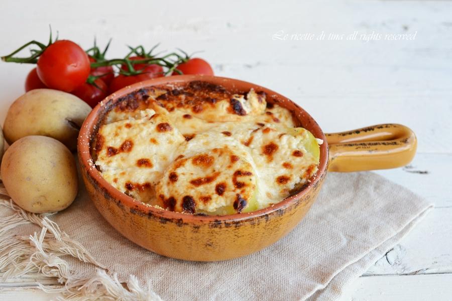 gratin di patate,patate gratinate,ricette con patate,contorni con patate,le ricette di tina