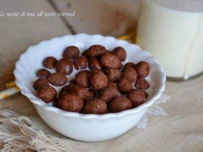 coco pops,coco pops fatti in casa,ricette colazione per bambini,colazione,le ricette di tina