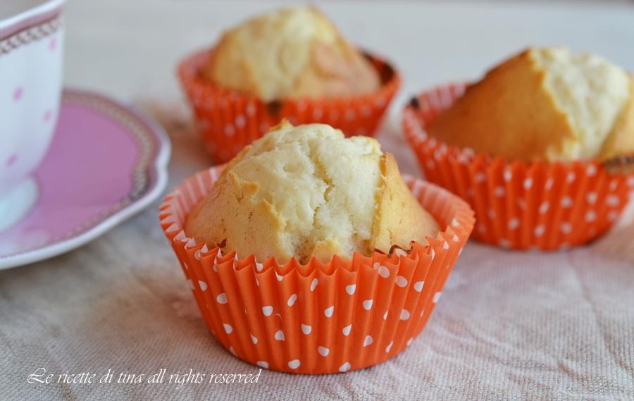 muffin,ricette dolci per buffet,dolci per bambini,muffin alle mandorle,le ricette di tina