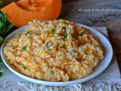 risotto zucca bimby,risotto zucca e salsiccia bimby,le ricette di tina