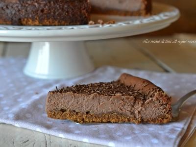 cheesecake alla nutella,cheesecake,cheesecake al forno,le ricette di tina