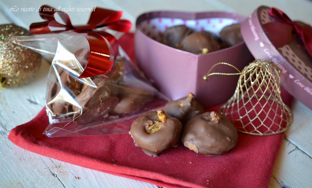 fichi,fichi al cioccolato,idee regalo per Natale,confezioni natalizie fai da te,le ricette di tina