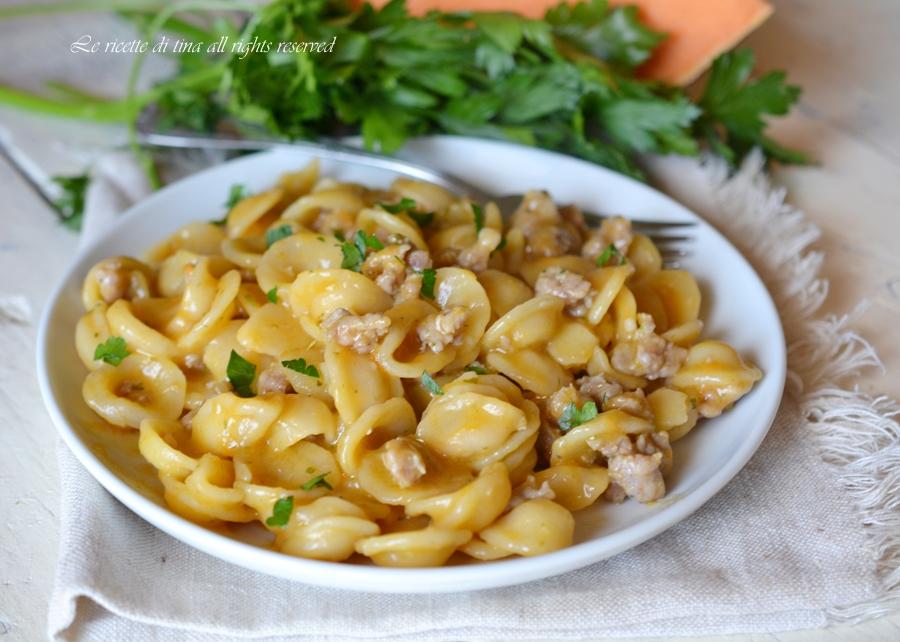 Ricette di pasta con zucca gialla