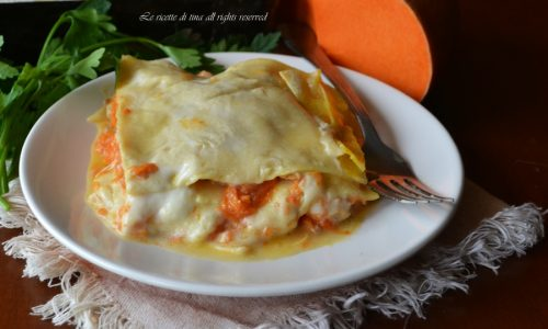 Lasagne zucca e salsiccia