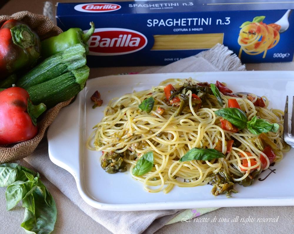 spaghettini con verdure
