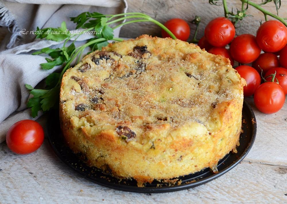 torta patate e funghi