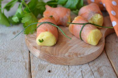 Bocconcini salmone e patate