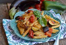 Pasta con verdure al forno