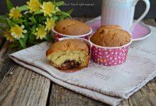 Muffin dolci con cuore al cioccolatino