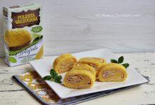 Girelle di polenta con prosciutto cotto e formaggio