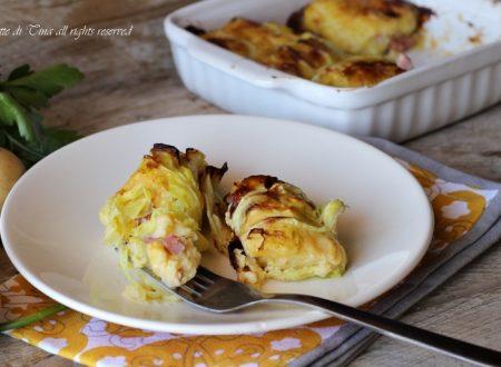 Rotolini di verza filanti con patate