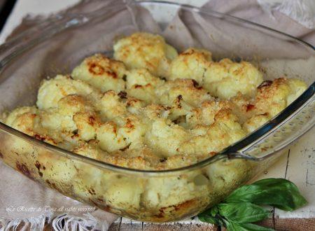 Cavolfiore al forno con parmigiano