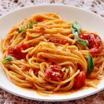 Spaghetti philadelphia e pomodorini
