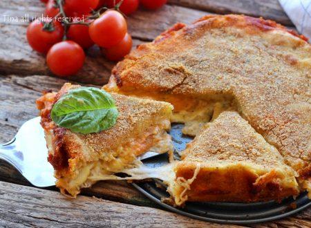 Torta di patate scamorza e pomodorini