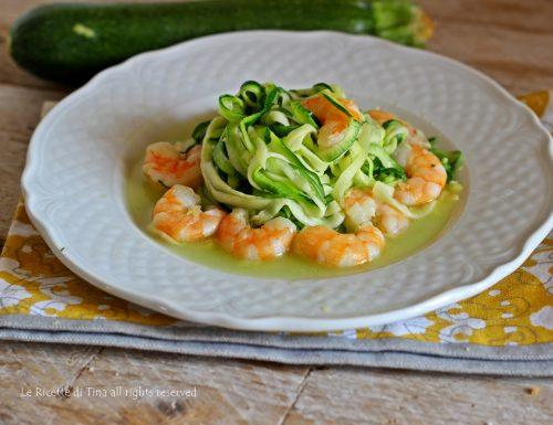 Spaghetti di zucchine al peperoncino