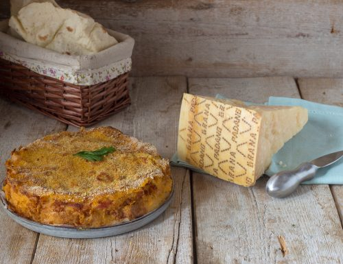 Torta zucca e patate con Grana Padano DOP