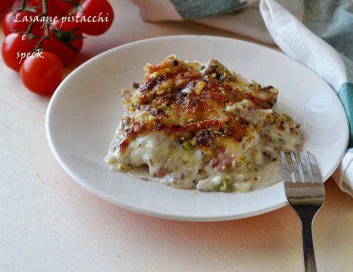 Lasagne pistacchi e speck