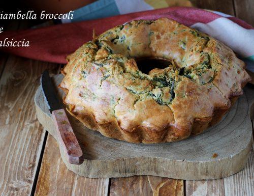 Ciambella broccoli e salsiccia