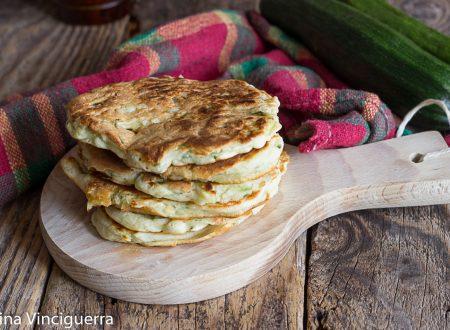Pancake zucchine e ricotta senza uova