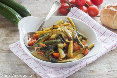 Teglia di zucchine al forno