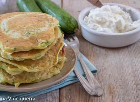 Pancake zucchine e ricotta
