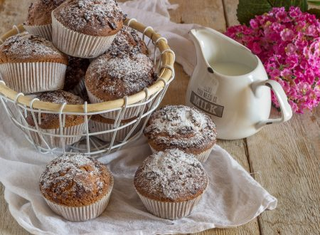 Muffin alla nutella e latte