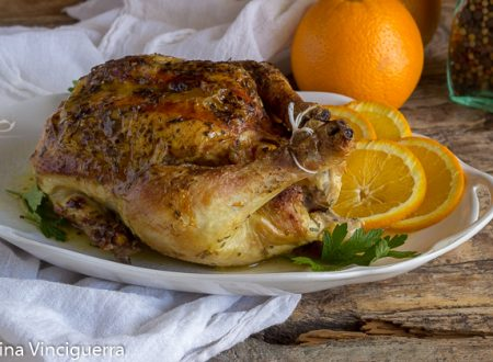 Pollo arrosto all'arancia
