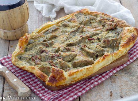 Torta carciofi e pancetta