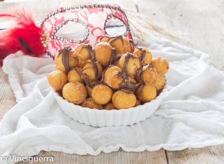 Castagnole ricotta e nutella