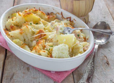 Pasticcio patate e cavolfiore al forno