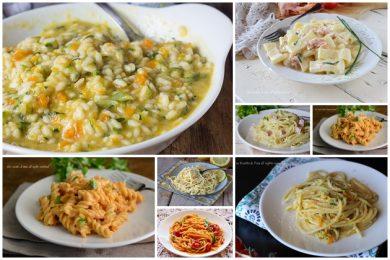 Primi piatti senza panna cremosi